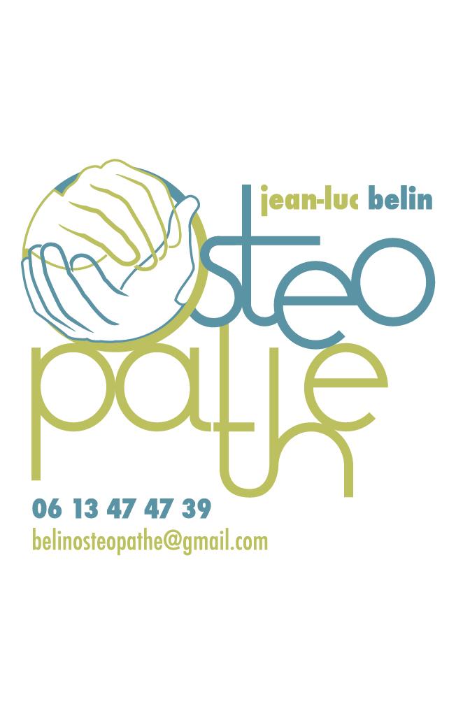 carte de visite ostéopathe M. Belin
